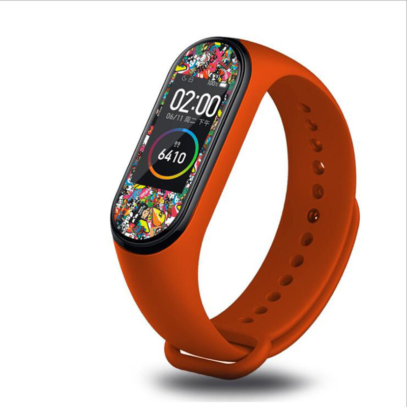 Image 5 - Cool Colorful Marvel Super hero Protective Film Guard For Xiaomi Mi Band Miband 4 Band4 Miband4 NFC Full Screen Protector Cover-in Smart Accessories from Consumer Electronics