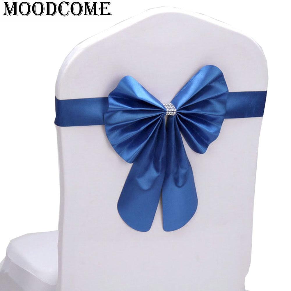 10 pcs lot pita chair band ikat pinggang dasi kupu-kupu band untuk  pernikahan dekorasi kupu-kupu kursi satin sash mode e29599340c