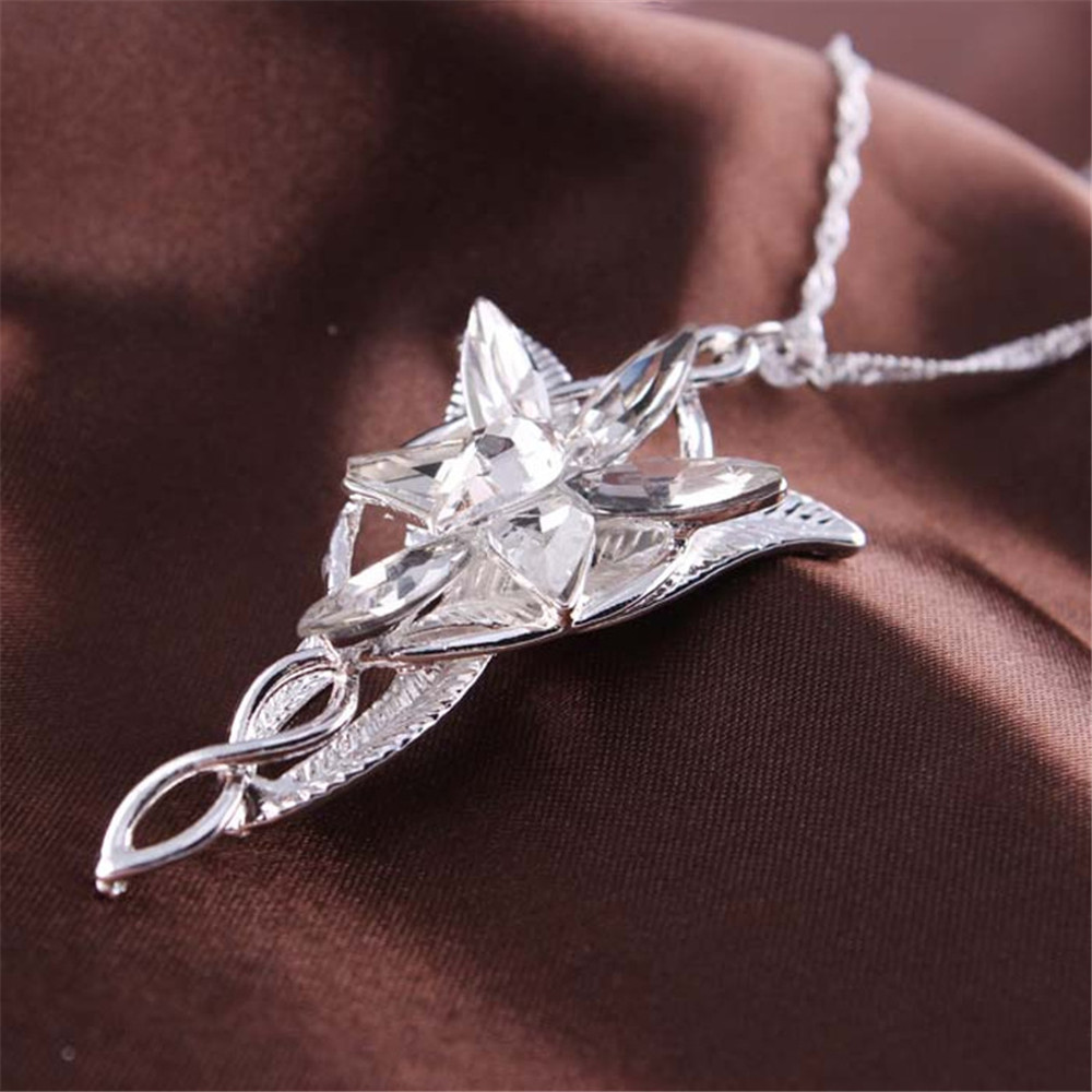 Lotr elf princess arwen evenstar pendants twilight elves princess lotr elf princess arwen evenstar pendants twilight elves princess neck cosplay jewelry necklace in pendant necklaces from jewelry accessories on aloadofball Images