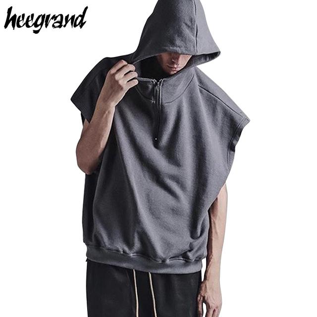 Hee grand homens vest 2017 nova moda dos homens casuais solta Tanque sólida Top Masculino Maré Street Style Verão Sem Mangas T-shirts MTN021
