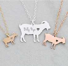 купить Pet Farm Animal Goat Charm Necklace Gift For Animal Lover Personalized Names Or Letters Accept Drop Shipping YP6091 дешево