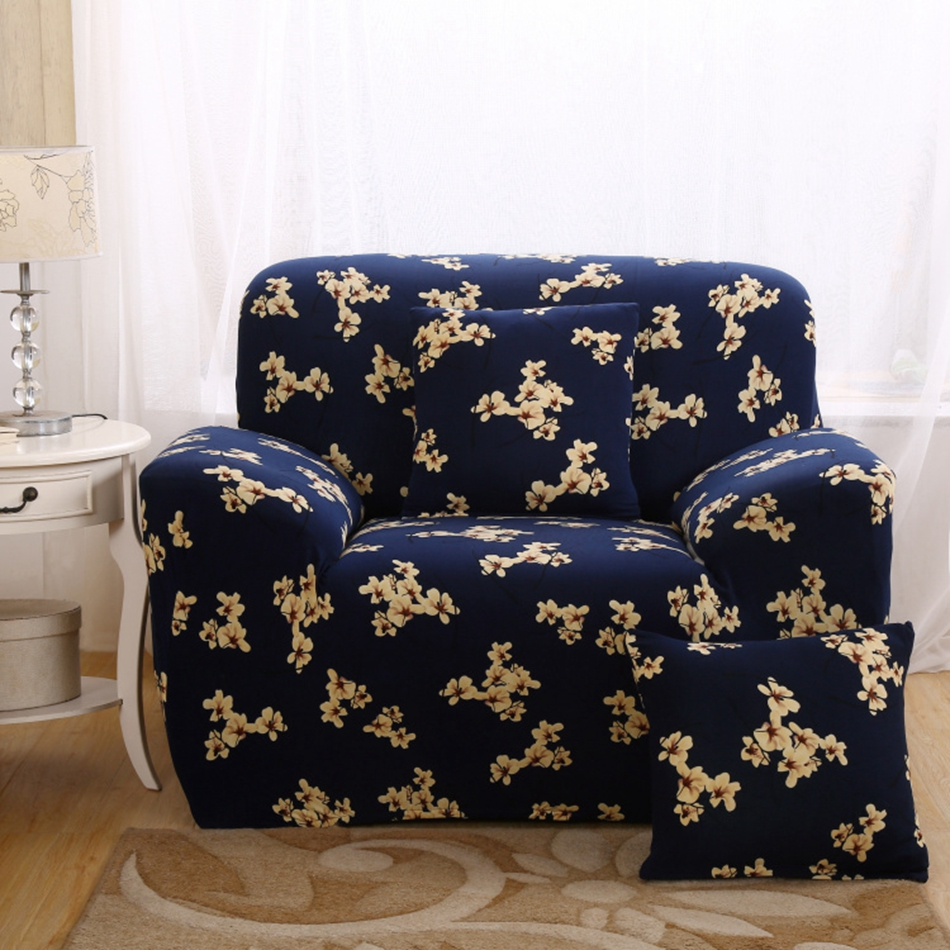 floral sofa cover stretch for living room l shaped sofa