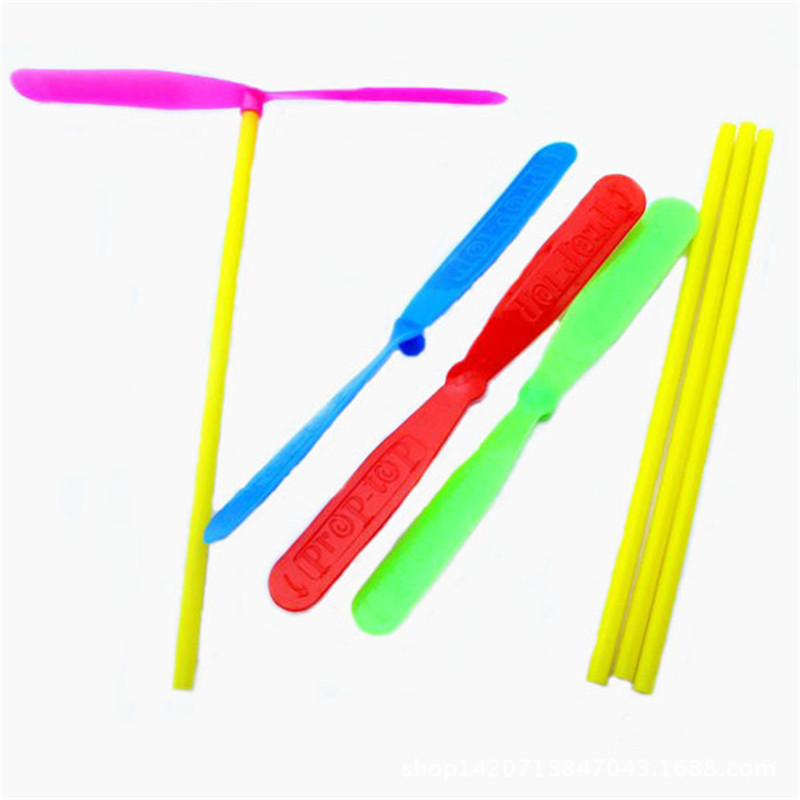 20 Pcs Plastic Bamboo Dragonfly Propeller Outdoor Dragonfly Kids Children Flying Gift