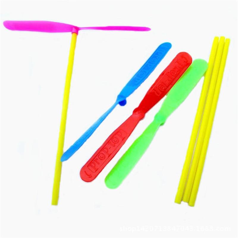 20 Pcs Plastic Bamboo Dragonfly Propeller Outdoor Dragonfly Kids Children Flying Gift