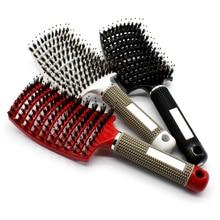 Scalp Massage Relax Comb Hair Hairbrush Bristle&Nylon Women Wet Curly Detangle Brush Tool