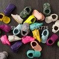 2015 Новая Мода Новорожденный Ребенок Мокасины Мягкие Moccs Детская Обувь Новорожденного Prewalker Anti-slip PU Кожа Малыша Младенца обувь