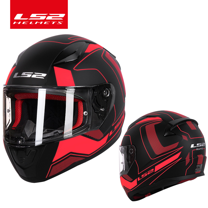 LS2 Rapida del fronte pieno moto rcycle casco ABS di sicurezza struttura meglio di FF320 casque moto capacete LS2 FF353 street racing caschi