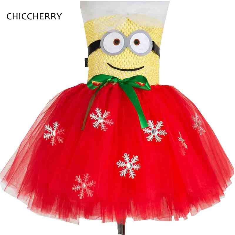 Fancy Minions Children Girls Dress Cartoon Baby Girls Lace Tutu Girls Party Dresses Costume Despicable Me Vestidos Kids Clothes цены онлайн