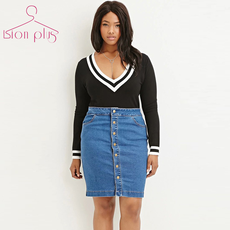 Plus Size Jean Skirts Cheap