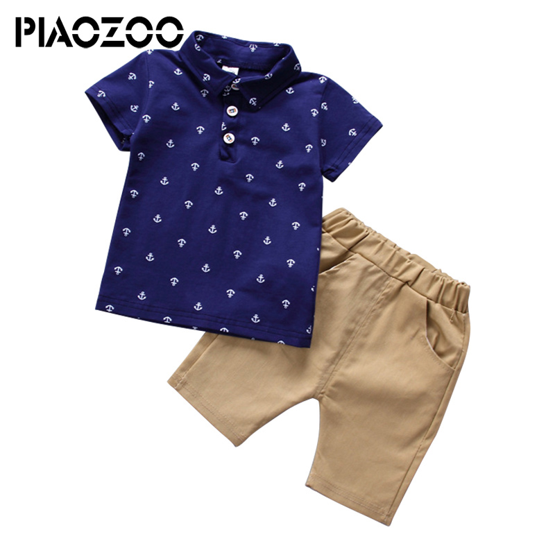 Boys Clothes 2018 New Toddler Boys Clothing Children Summer Boys Clothes Kids Boy Clothing Set tshirt +Pants 100% Cotton P25