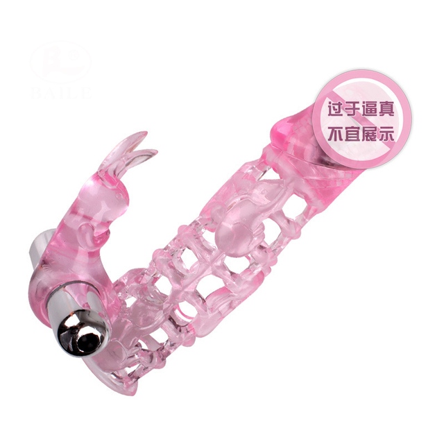 Free shipping Vibrating Male penis sleeve on-contact ultimate love sleeve vibration and escalation sex toys for men