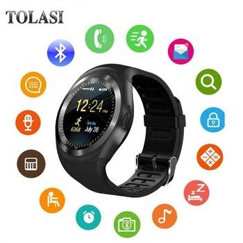 TOLASI Smart Watch Y1 SIMTF card bluetooth Smartwatch For apple Watch 3 xiaomi huawei Samsung gear s3 relogios pk DZ09 GT08 умные часы smart watch y1
