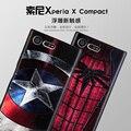 Para sony xperia x caja compacta 3d estéreo alivio pintura suave cubierta trasera para sony xperia x mini silicio cajas del teléfono de tpu Funda