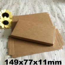 50PCS 14.9*7.7*1.1cm Brown Kraft Paper Cartons Box Gift Box Packaging for Phone Case Wedding Box Marriage Emballage Wholesale