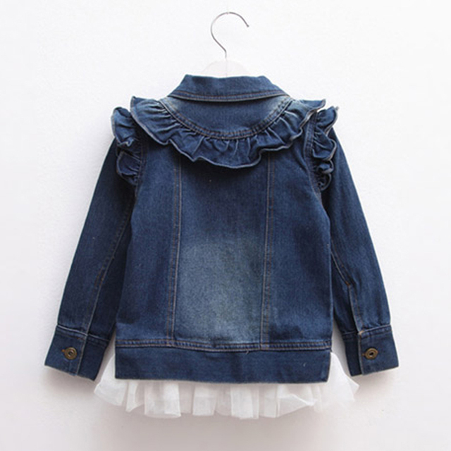 Denim Jacket with Tulle