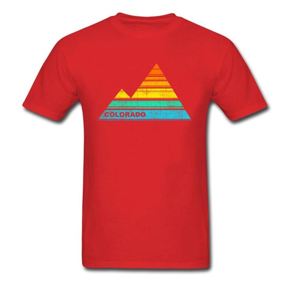Tops Shirts retro colorado souvenir April FOOL DAY Cotton Fabric Round Collar Men T Shirts Casual Tops T Shirt 2018 Discount retro colorado souvenir red