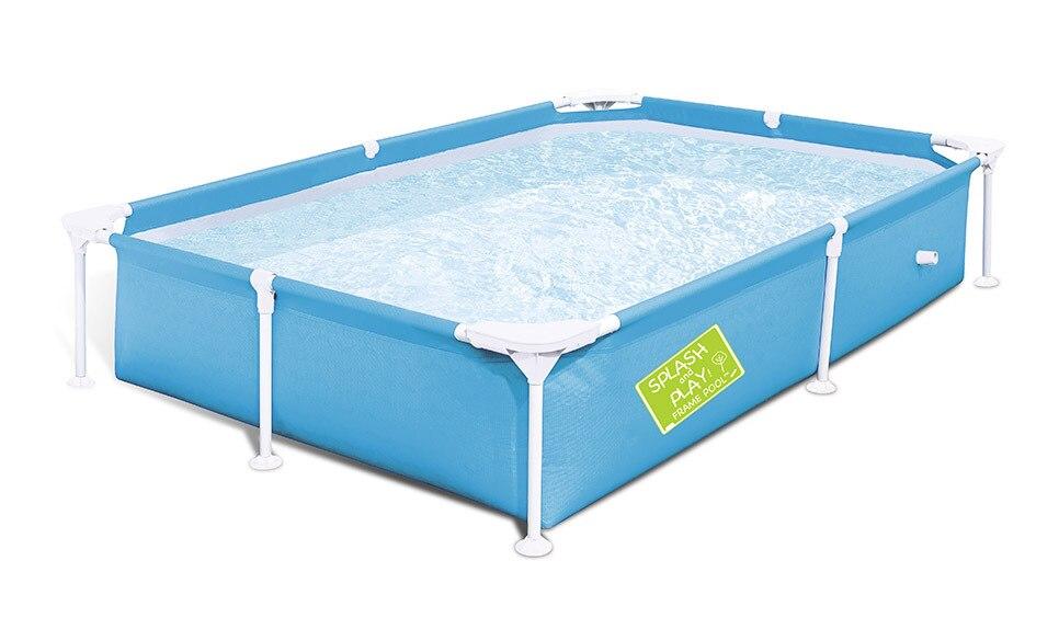 Pour l'été 2.2*1.5*0.43 m portable pliant enfants rectangulaire de support tube de crémaillère piscine de natation piscine