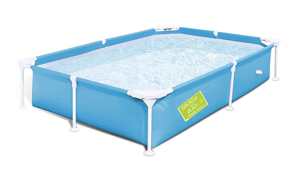 Pour l'été 2.2*1.5*0.43 m portable pliant enfants support rectangulaire piscine tube rack piscine piscine