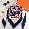 Cópia Da Flor das mulheres pashmina cachecóis frete grátis Marca designer de moda longo lenço de Seda de Alta Qualidade para as mulheres Impressão Pescoço Anel