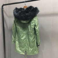 2019 stock natural rabbit fur coat fox fur collar raccoon fur vest fox fur vest leather jacket for lady winter warm parkas coat