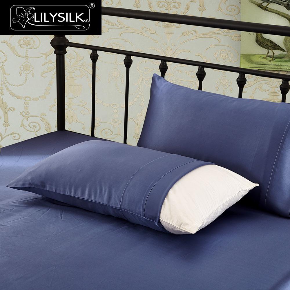 LilySilk المخدة 100 الحرير الخالص الطبيعي للشعر الفاخرة 22 مللي متر مقتضب التوت 40x40 50x90 سنتيمتر المنسوجات المنزلية شحن مجاني-في كيس وسادة من المنزل والحديقة على  مجموعة 2