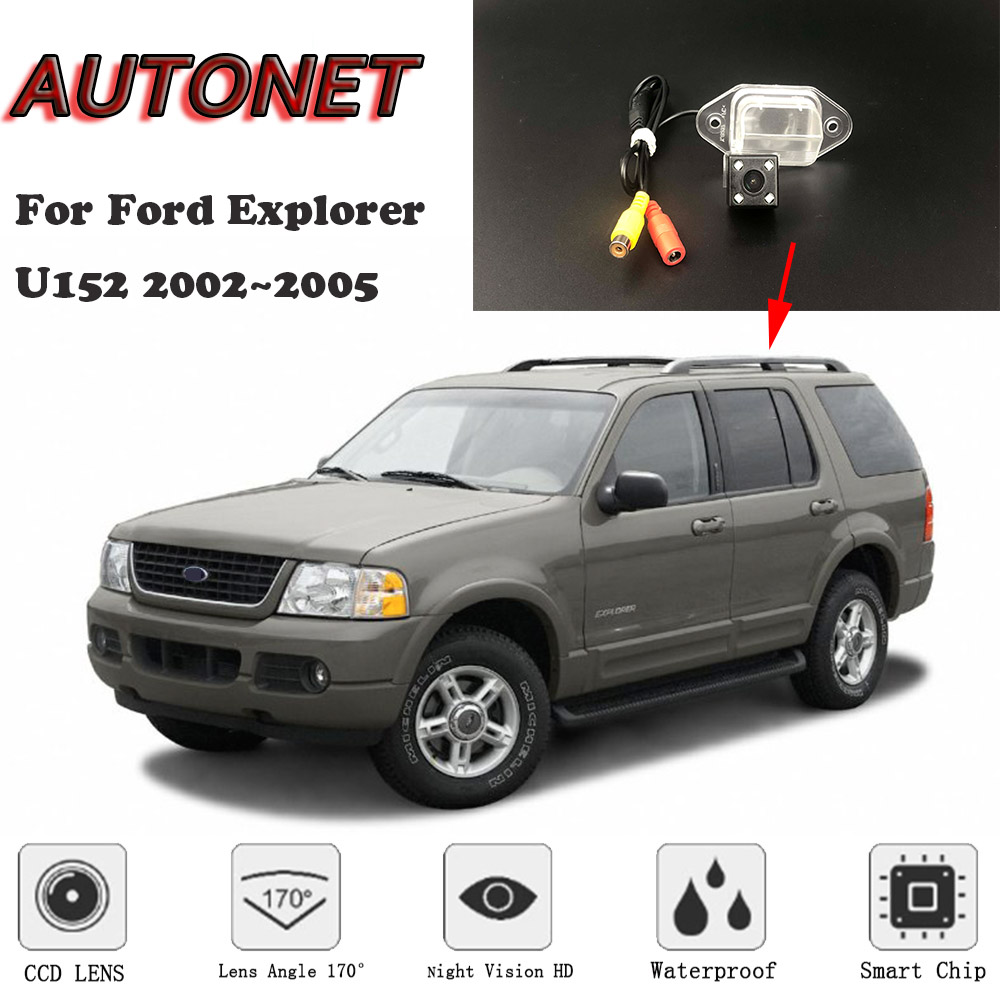 AUTONET Backup Rear View Camera For Ford Explorer U152 2002 2003 2004 2005 Night Vision Parking Camera License Plate Camera