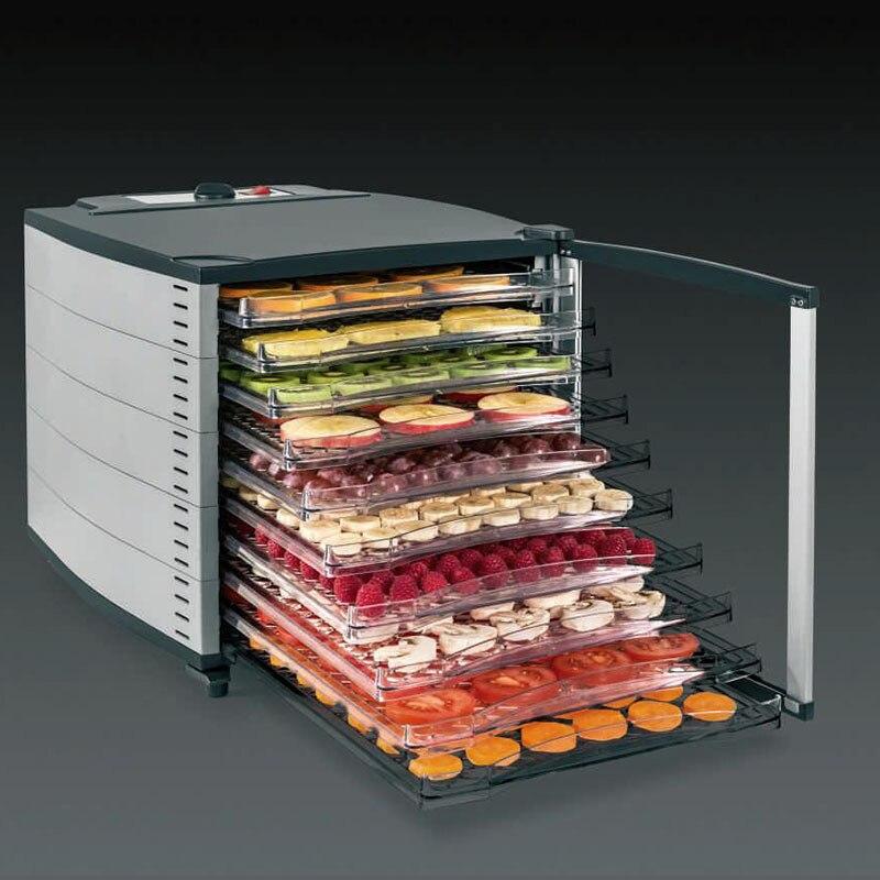 Kommerziellen Lebensmittel Obst Trockner 10 Schichten Große Edelstahl Trocknen Maschine Safe Gemüse Elektrische Dörr Lufttrockner Gerät