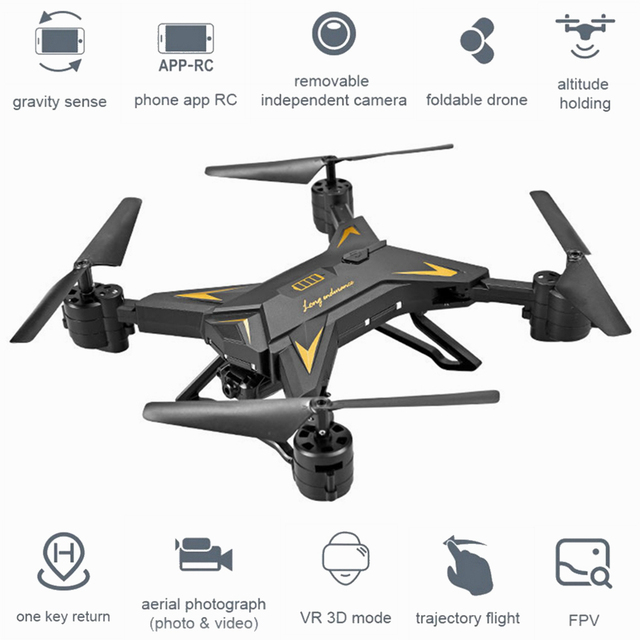 KY601S Foldable RC Quadcopter Camera Drone HD 1080P WIFI FPV Selfie Drones Remote Helicopter 4 Channel Wide Angle Long Lasting