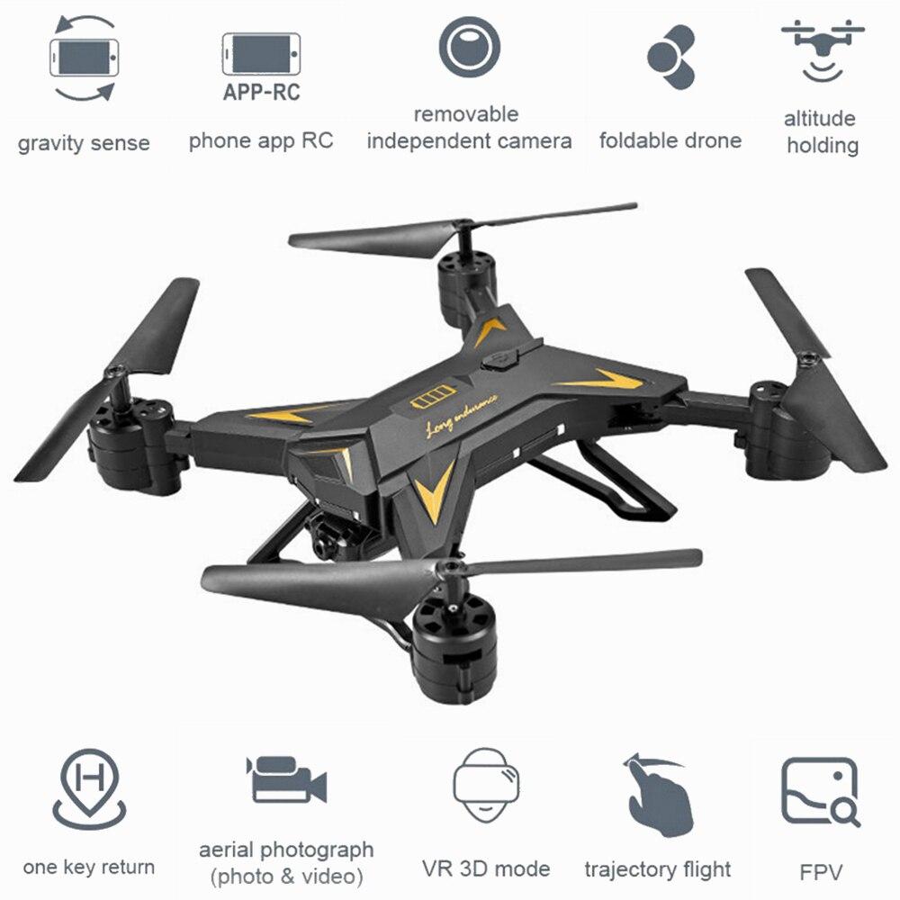 KY601S Pieghevole RC Quadcopter Fotocamera Drone HD 1080 p WIFI FPV Selfie Drone Elicottero di Telecomando 4 Canali Ampio Angolo di Lungo della durata di