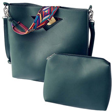 Women Handbag Fashion Women Leather bag Single Shoulder Bag+Shoulder Bag Zipper Soft Ladies Bag Bolsas Femininas