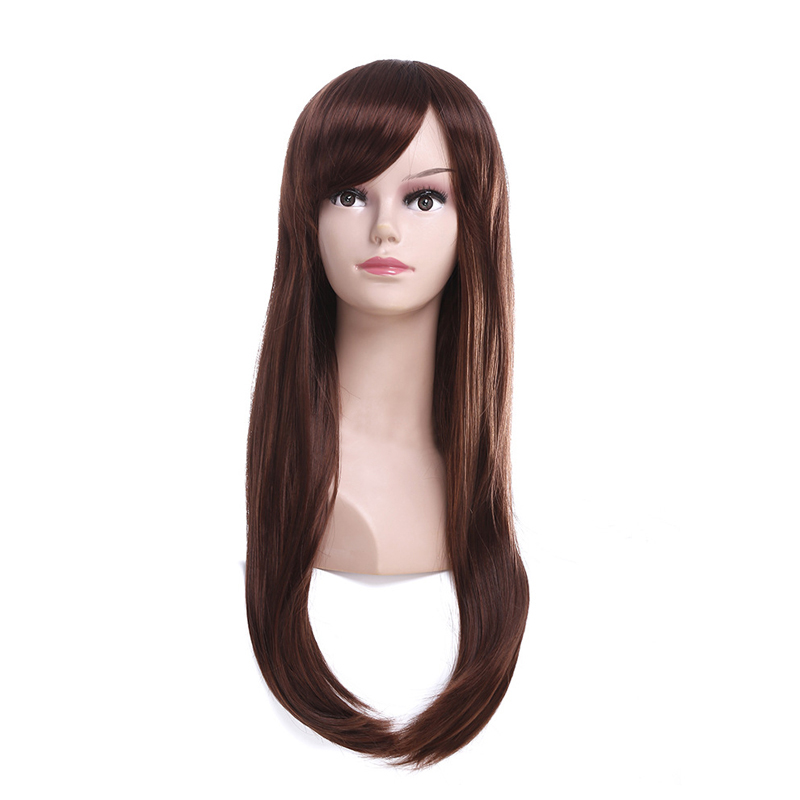 D.Va Women Cosplay Costume DVA Long Synthetic Hair Halloween Party Headwear