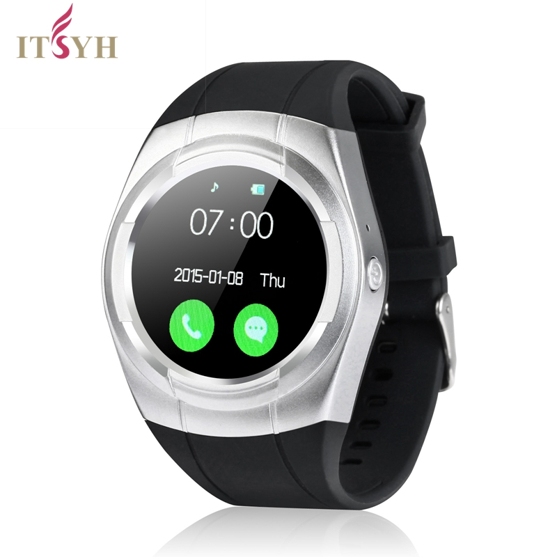 ITSYH Smart Bracelet Watch Message Reminder Smartwatch Heart Rate Monitor Pedometer Wristwatch for IOS Android T60