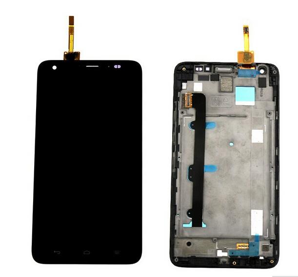 100% original lcd screen display toque digitador assembléia quadro para huawei honor 3x g750 freeshipping