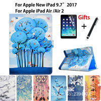 Fashion Painted PU Leather Case For Apple New IPad 9 7 2017 A1822 Cover For IPad