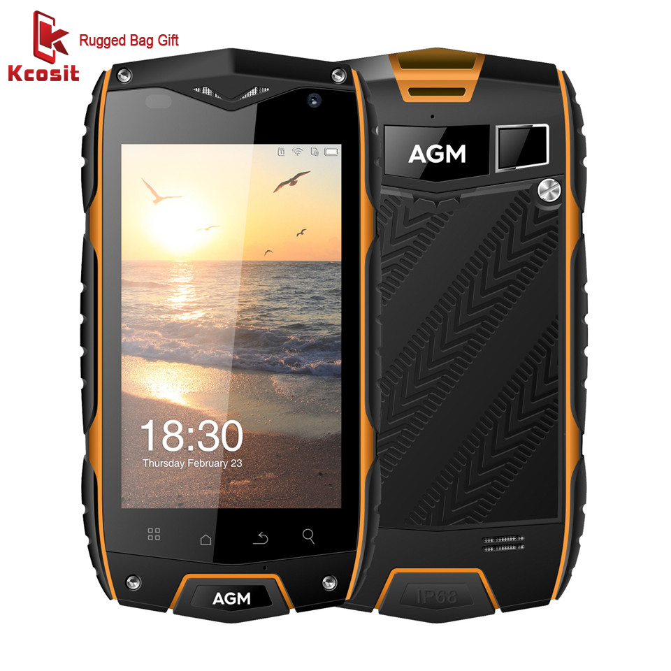 original AGM A7 4G IP68 Waterproof Rugged Mobile Phone 2GB RAM MSM8909 Quad Core Android 6.0 Smartphone OTG GPS 8MP Cell Phone