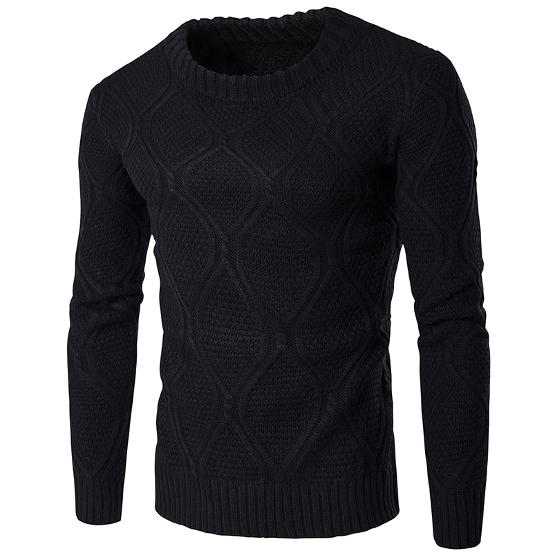 Winter New Arrivals Thick Warm Sweaters O Neck Wool Sweater Men Casual Slim Fit Sweater