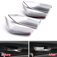 YAQUICKA Stainless Steel 4x Car Interior Door Handle Bowl Cover Trim Sticker Styling For BMW 1