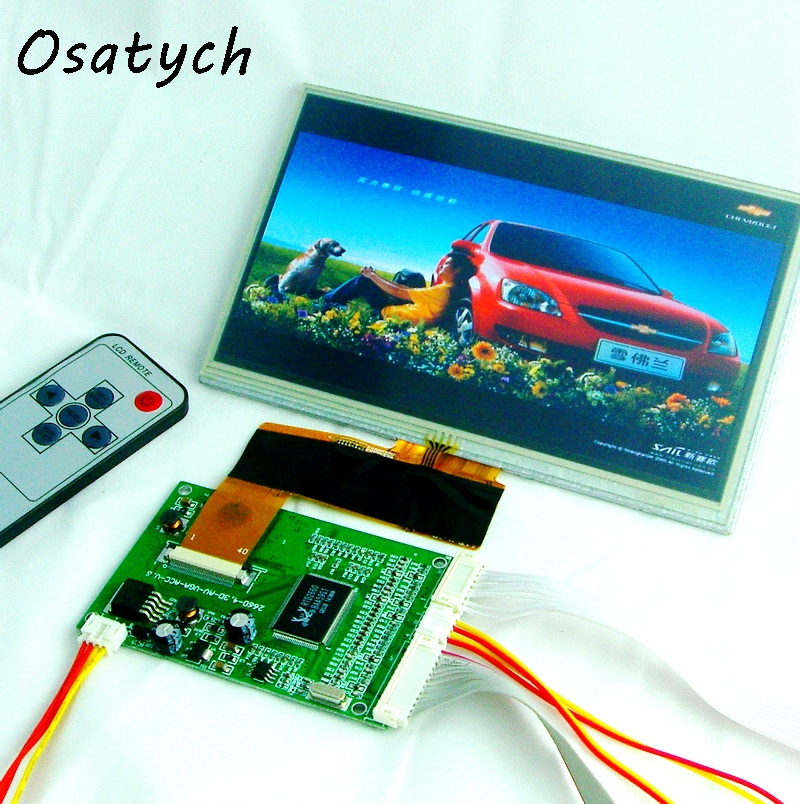 7 inch for 800*480 40pin TFT Car LCD Display Module,w/VGA,Video AV Board With Touch Panel Free Shipping цена 2016