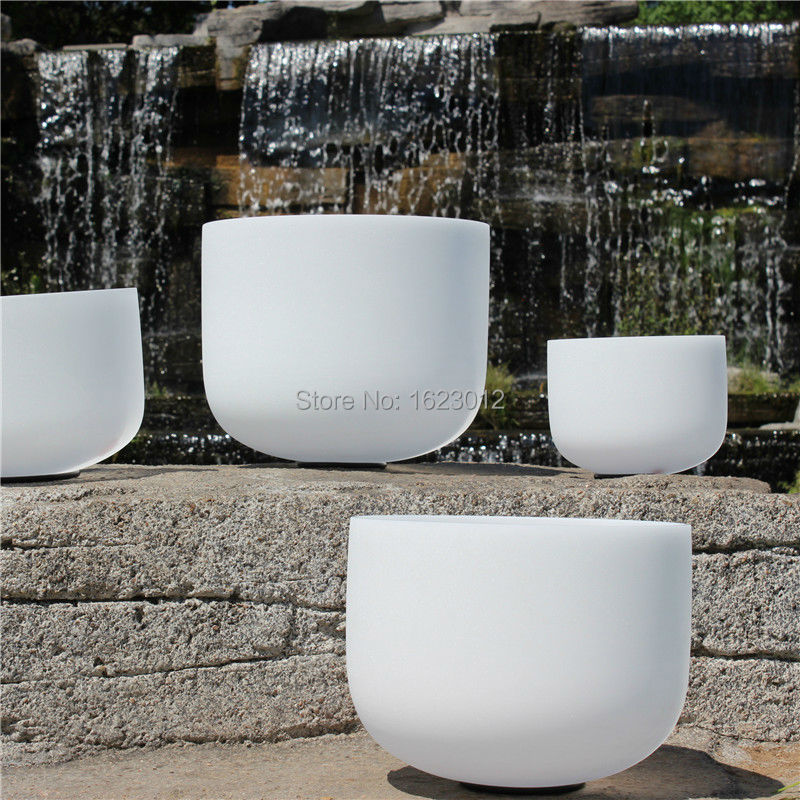 12 Inch B Frosted Chakra Quartz Crystal Singing Bowl 10 and 12 2pcs chakra white frosted quartz crystal singing bowl 432hz