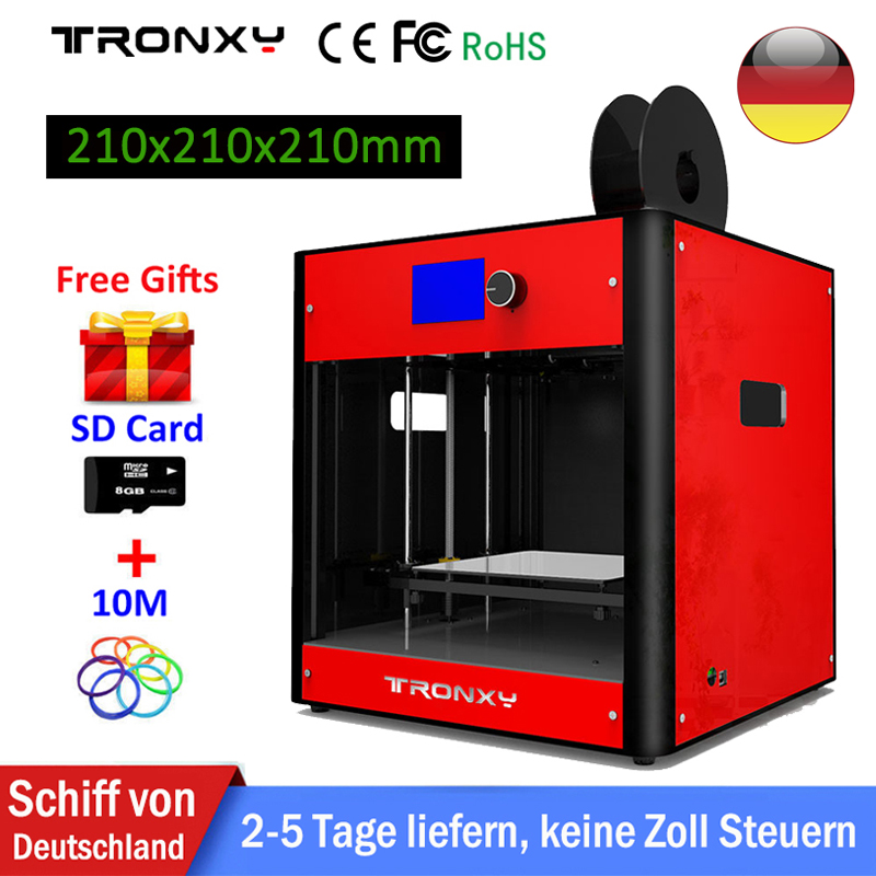 купить Newest Tronxy 3D Printer Kit metal frame industrial grade high precision 3D Printing Size 210x210x210mm extruder 3d printer DIY по цене 22762.16 рублей