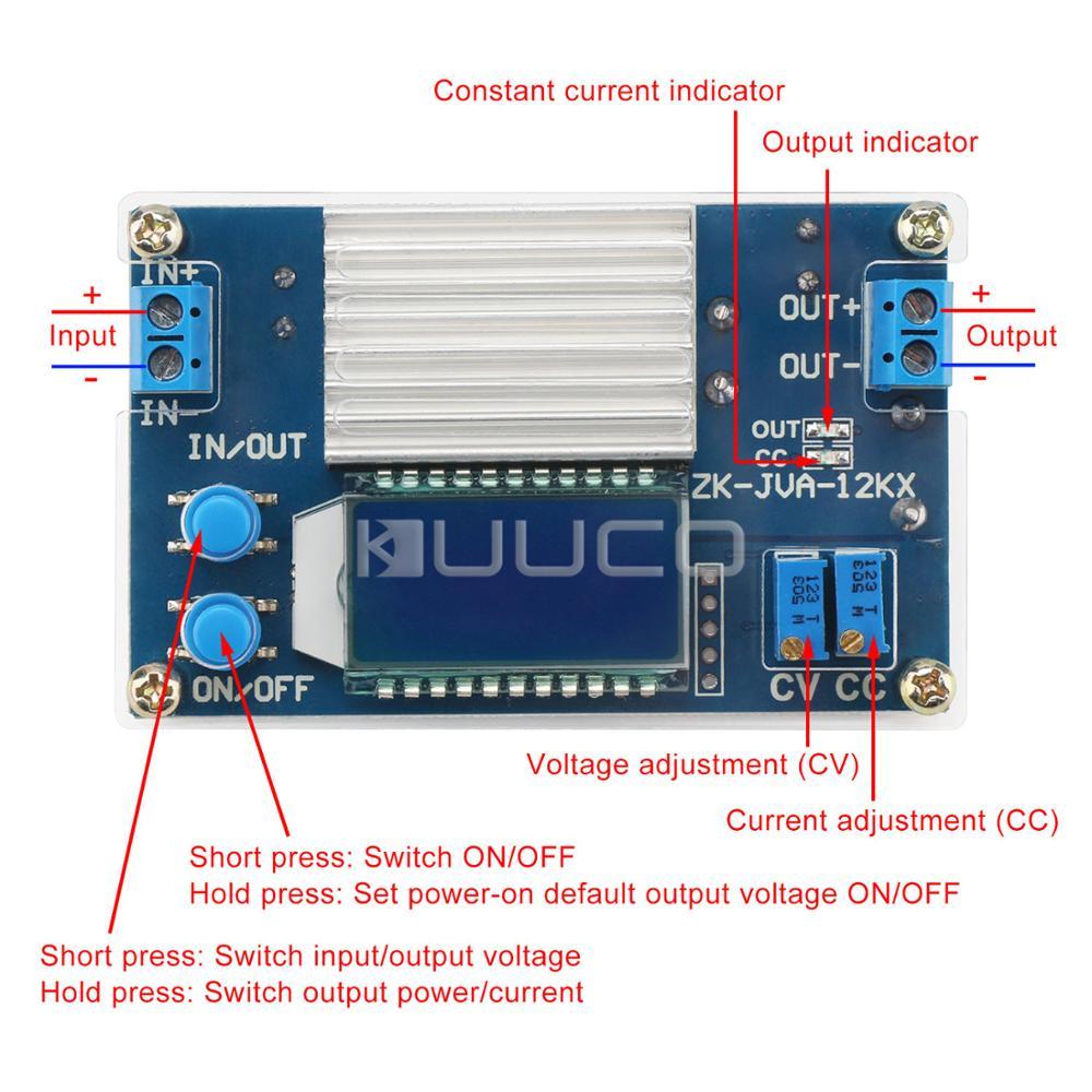 Power Supply Module Adjustable Cc Cv Buck Converter Dc 53v32v 24v 3v To Variable Electronic Circuits Home Step Down Voltage Regulator 12a 160w Adapter Driver In Regulators Stabilizers