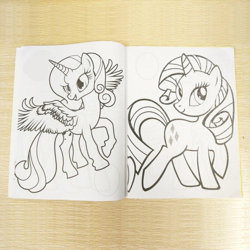 20x27 سنتيمتر 16 صفحة المهر تلوين ملصقات للكتب كتاب للأطفال الاطفال