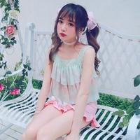 Princess Sweet Lolita Shirt BOBON21 The Bow Tie Lace Chiffon Shirt T1468