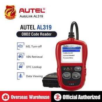 2014 Hot Sales Auto Diagnostic DIY Code Reader Autel AutoLink AL319 OBD2 Code Scan Tool AL-319 Update On Official Website telephony