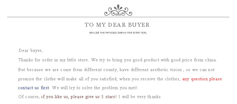 to buyer