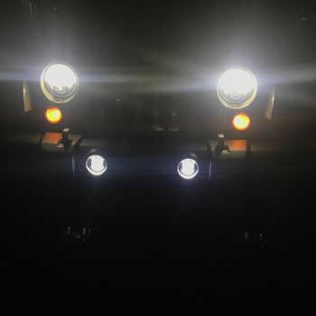 2pcs 30w Chip led 4 inch White Round fog lights lens Projector 4\'\' Fog Lamp For Offroad Jeep Wrangler Dodge Chrysler