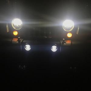 Image 4 - 2x30W puce Led 4 pouces blanc rond antibrouillard lentille projecteur 4 antibrouillard pour tout terrain Jeep Wrangler Dodge Chrysler