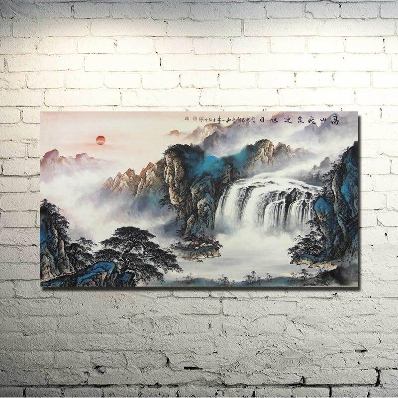 Chino de la tinta del agua Cepillos estilo de pintura arte seda tela ...