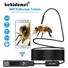 2/5M su geçirmez Mini WIFI endoskop kamera sert kablo muayene kamera 8mm USB endoskop Borescope IOS endoskop iphone için