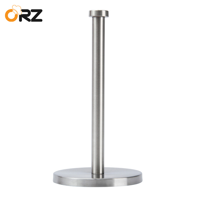 ORZ Kitchen Roll Paper Holder Bathroom Toilet Paper Stand Stainless